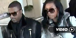 Ray J Turns to Brandy for Support -- En Route to Whitney Funeral