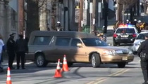 Whitney Houston Funeral -- Hearse Arrives at Church