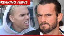 Chris Brown Rips WWE Champ CM Punk -- You Have Inferior Man Junk