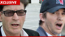 Charlie Sheen APOLOGIZES to Ashton Kutcher -- You Don't Suck, Bro