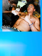 Shirtless Zac Efron Gets Tattooed In Ellen Underwear