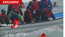Hillary Clinton -- Close Encounter at Sea with MASSIVE Whale