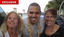 Chris Brown -- ALL SMILES After Alleged Phone-Snatching