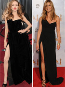 Angelina Jolie Wears Sexy Look Reminiscent of Jennifer Aniston&#039;s