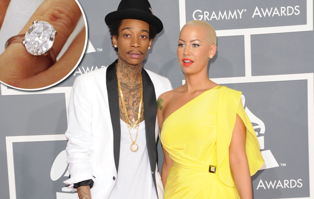 Wiz Khalifa, Amber Rose Engaged: See the Giant Engagement Ring!