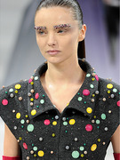 Miranda Kerr Gets Her Brows Blinged for the Runway