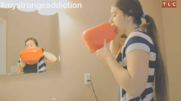 """""""My Strange Addiction"""" Preview: Girl Drinks Gasoline from Gas Can!"""