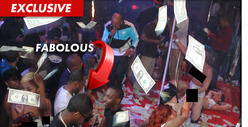Rapper Fabolous -- MASSIVE $28,000 Rainstorm at Atlanta Strip Club
