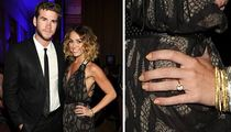 Miley Cyrus -- Sporting Giant Rock ... Is She Engaged? [PHOTO]