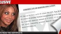 Toni Braxton -- I Graduated From Debt School!