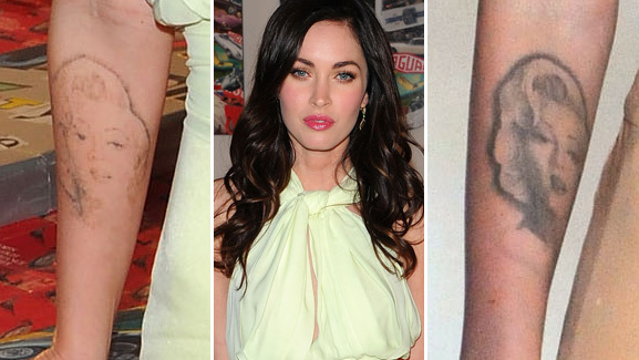 Megan Fox Removing Her Marilyn Monroe Tattoo?