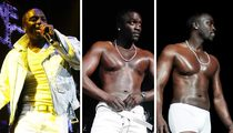 Akon's Underwear Strip Show