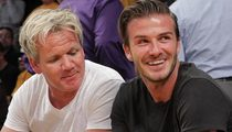 David Beckham Celebrates Birthday with Gordon Ramsay