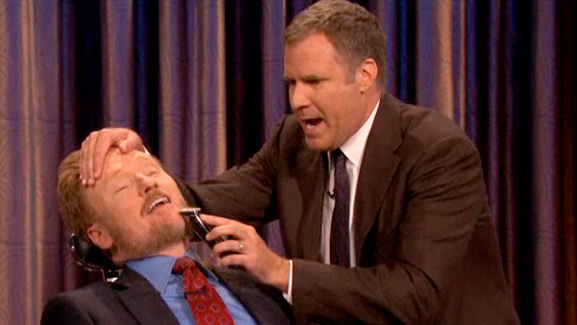 Video: Will Ferrell Shaves Off Conan O'Brien's Beard!