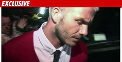 David Beckham in Car Accident on LA Freeway
