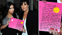 Read the Kardashian Sisters' Mother's Day Cards to Kris!
