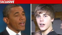 White House Contacts Bieber -- Can You Help Us Out?