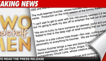 "Ashton Kutcher: ""I Can't Replace Charlie"""