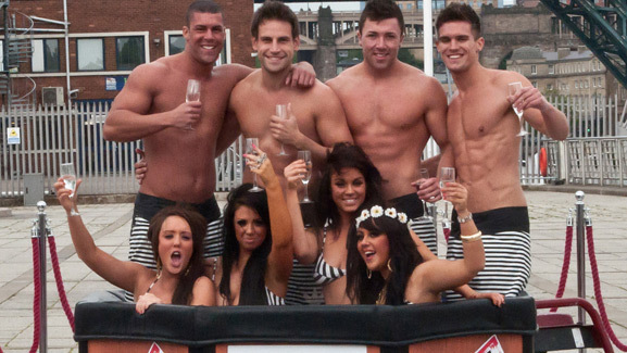 "Cast of the U.K. Version of ""Jersey Shore"" Strip Down"