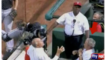 George W. Bush -- Nearly Decked by Foul Ball