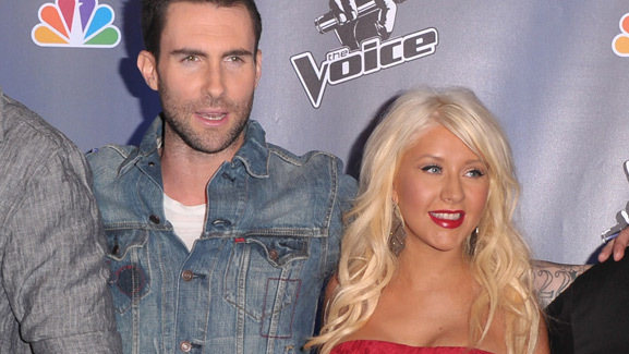 'The Voice' Coaches' New Song -- Hear Adam & Christina's Duet!