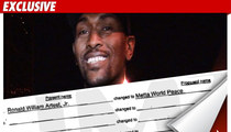 Ron Artest -- World Peace to Come in August