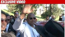 Randy Jackson Greets MJ Fans at Forest Lawn