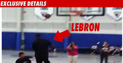 LeBron Dunks on Kid -- Apologizes with Shoes