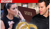 Kim Kardashian and Kris Humphries -- Bible Study