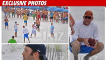 Locked Out NFL Stars -- Best Beach Football Ever!