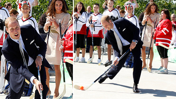Prince William Plays Hockey -- He Shoots, He Doesn't Score!