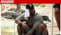 NFL Star STRADDLES Giant Alligator -- What a Croc!