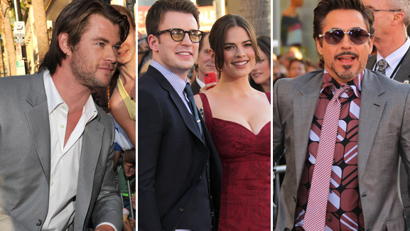 'The Avengers' Unite for 'Captain America' Premiere