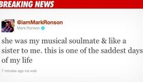 Mark Ronson -- I've Lost My 'Musical Soulmate'
