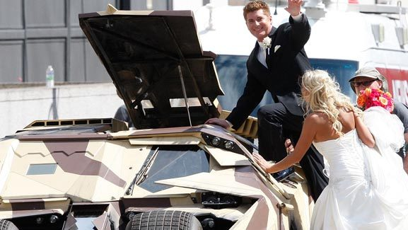 Best Wedding Photo Ever: The Batmobile Pics!