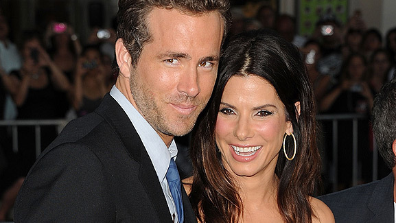 Ryan Reynolds & Sandra Bullock Reunite on Red Carpet!