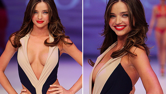 Miranda Kerr Returns to the Aussie Catwalk in Sexy Swimsuit