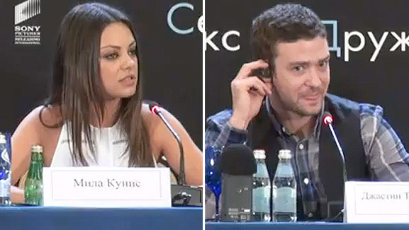 Video: Mila Kunis Tears into Reporter ... In Russian!