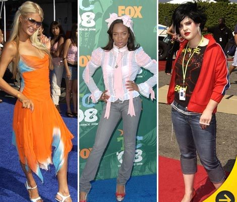 Worst Dressed Stars of Teen Choice Awards' Past