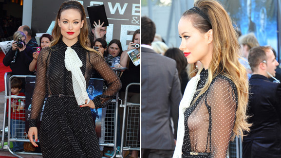 Photos: Olivia Wilde's Risque Red Carpet Look