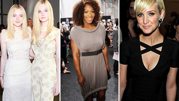 Fashion Week: Serena Williams, Fannings & Ashlee's Cleavage