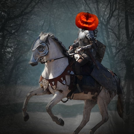 Headless Horsemen Guess Who Halloween Game Sleepy Hallow Riding a Horse
