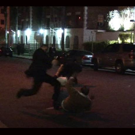 Blood, fists and weaves fly in Hollywood.
