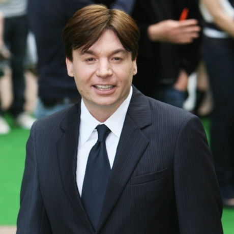 Mike Myers -- with a boy's haircut.