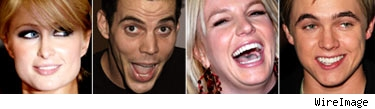 Paris Hilton, Steve-O, Britney Spears, Jesse McCartney