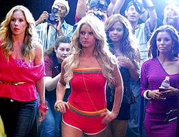 Jessica Simpson's Video Shoot