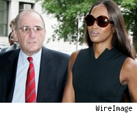 Naomi Campbell arrives with her lawyer at the Manhattan Courthouse - June 27, 2006