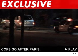 Paris chased by cops