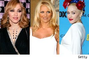 Madonna, Pam Anderson, Gwen Stefani