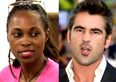 Colin Farrell and Dessarae Bradford